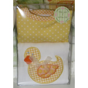 Unisex Burp Pad and Bib Set