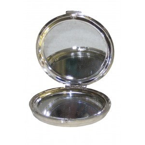 Silver Plated Princess Compacts