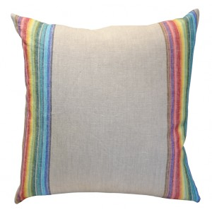 Rainbow Linen Pillow