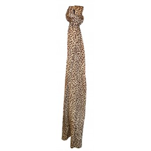 Silk Leopard Scarf