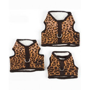 Sherpa Lined Leopard Body Harness