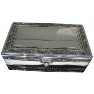 Large Silver Rectangle Jewelry Box