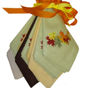 Fall Leaf Dinner Napkins-set of 4
