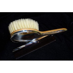 Silver Baby Brush/Comb Set